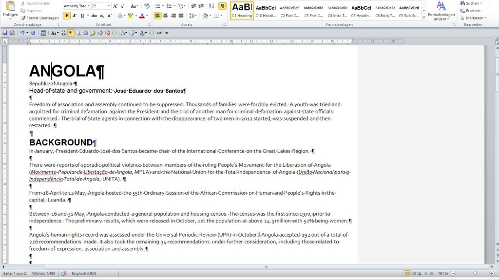 1 Paragraphstyles in Word docx