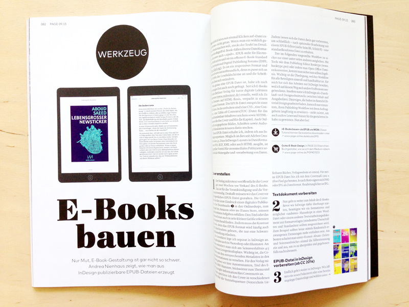 E-Books bauen in InDesign – Beitrag in der PAGE 09/2015