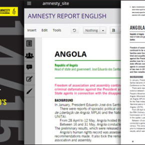 Amnesty International – Annual Report 2014/15 mit Booktype
